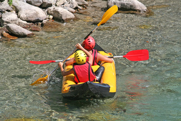 Jeune kayakistes