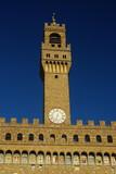 Firenze, piazza della Signoria: la Torre di Palazzo Vecchio poster