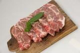 viande de porc et feuille de laurier poster