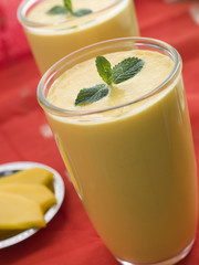 Glasses of Mango Lassi