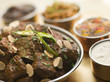 Meat Madras Restaurant Style with Raita and Chutneys
