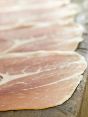 Slices of Serano Ham
