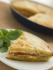 Spanish Potato and Chorizo Sausage Omelette
