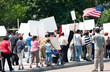 canvas print picture - Protest