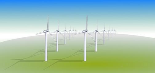 Ferme éolienne pureté