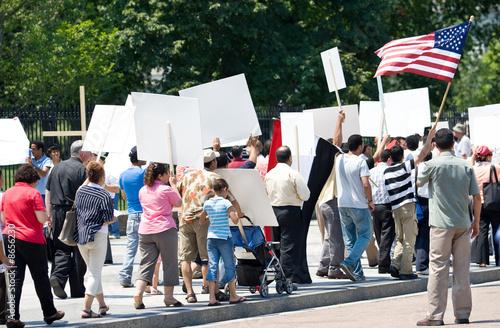 canvas print picture Protest
