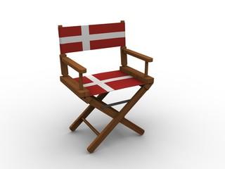 Chair with flag of Denmark