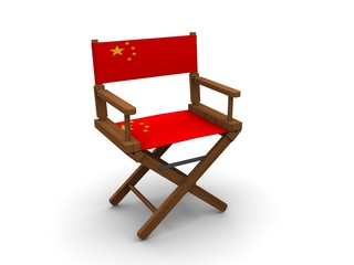 Chair with flag of China