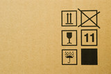 cardboard box texture poster