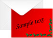 Envelope with christmas card - vector illustration