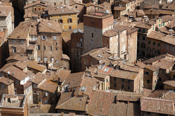 view over siena from the tower of palazzo pubblico