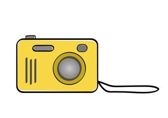 Macchina fotografica gialla