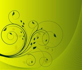 Floral ecology background vector illustration
