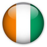 Ivory Coast Flag Button poster