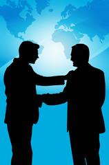Hombres de Negocios saludandose