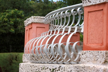 Balcony decoration - Center Island of Vizcaya Museum  in Miami