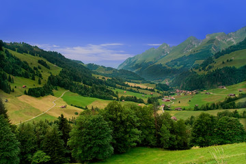 Near Gruyeres,  Canton of Fribourg, Switzerland
