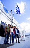 Young people posing by the ferry