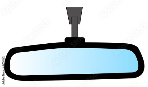 rear view mirror from an automobile - illustration - 8676862