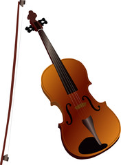 violin, vector. Arts forever.