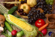 Rustic's corn, fruits, vegetables