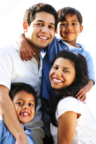 Family Enjoying Vacation Outdoor Portrait