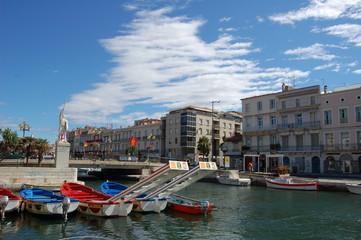 canal de Sète et ses embarcations