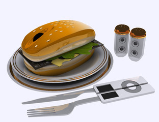 burger pc 3d