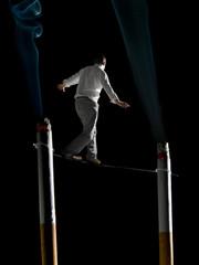 Walking the tightrope of smoking addiction