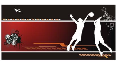 composicion abstracta de baloncesto