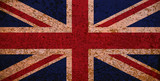 Rusty Flag Of Great Britain poster