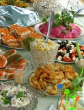 Russian celebratory feast poster