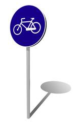 segnale stradale bicicletta