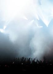 Hellblaues Konzertlicht
