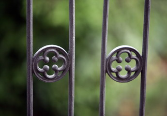 Closeup of ironwork