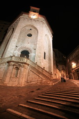Building at night;Perugia;Italy