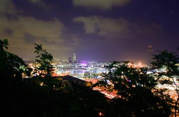 City at night;Barcelona;Spain