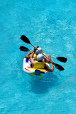 rafting in an amusement aqua park poster