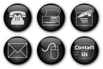 """""""Contact"""" buttons (black)"""