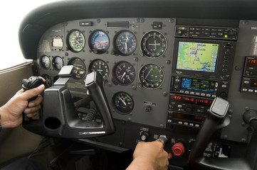 Flying the Cessna plane