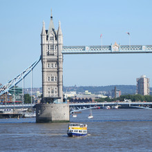 Tower bridge and tourist boats