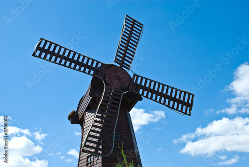 Mill on the sky background