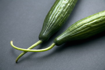 Cucumbers;black background