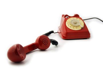 BCA rosso - cornetta stesa - focus microphone