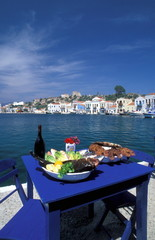 Seafood meal by the sea