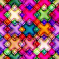 Colourful seamless mosaic