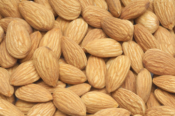 Almonds, close-up