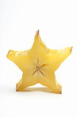 Starfruit on white background