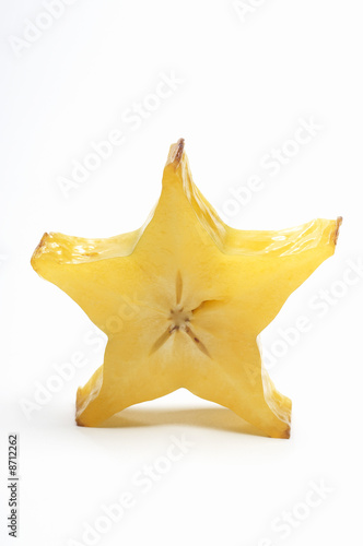 Starfruit on white background