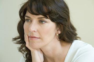 Portrait of woman pondering